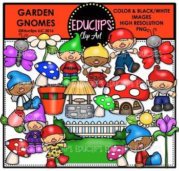 Garden Gnomes Clip Art Bundle  {Educlips Clipart}