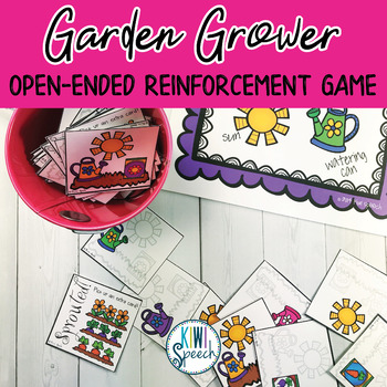 Garden Grower: Open Ended Reinforcement Game: Great for Speech and Language