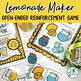 Lemonade Maker: Open Ended Reinforcement Game: Great for Speech and Language