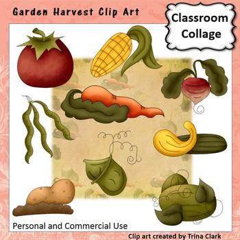 Garden Harvest Clip Art - fruit and vegetables - Color - p