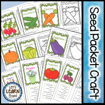 Seeds / Plants, Seed Packet Craft, Gardening Activity for Spring