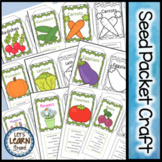 Seed Packet Craft, Garden Theme, Plants Theme, Gardening Activity