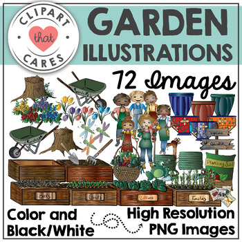 Garden Illustrations Clipart by Clipart That Cares