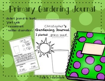 Plants Garden Journal {Primary}