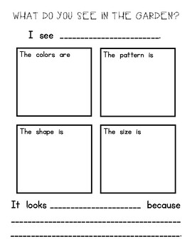 Garden Journal Prompts and Graphic Organizers