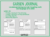 Garden Journal for Autism, Special Education and Elementary Education Classes