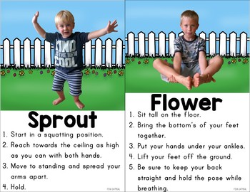 garden kids yoga cards and printables  tpt
