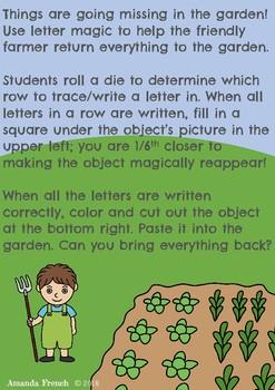 Garden Letter Trace