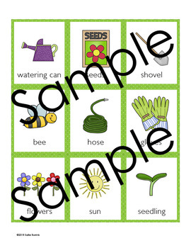 Garden Memory Game - Garden Theme Activity