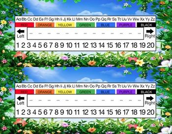 Spring Garden Desk Name Tag Plates Set