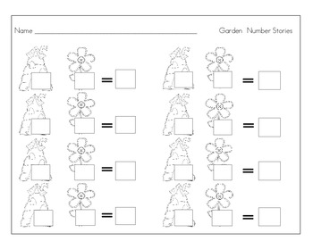Garden Number Story Mat and Worksheet