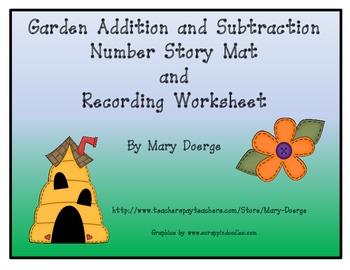 Garden Number Story Mat and Worksheet
