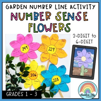Garden Number line - Number Sense Flowers Activity