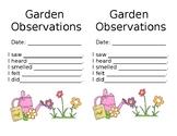 Garden Observation Log