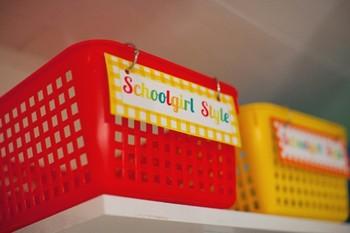 Classroom Decor Garden Party Book Basket Labels