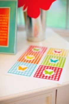 Classroom Decor Garden Party Butterfly & Gingham Tags