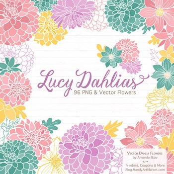 Garden Party Dahlia Clipart