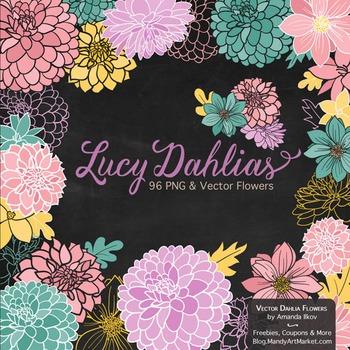 Garden Party Dahlia Clipart