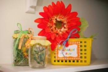 Classroom Decor Garden Party Multipurpose Gingham Labels