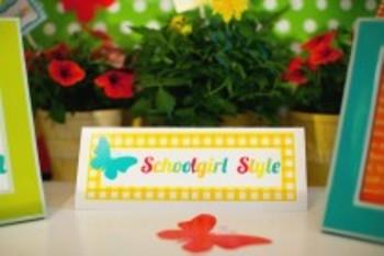 Classroom Decor Garden Party Nameplates