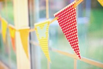 Classroom Decor Garden Party Pennant Banner