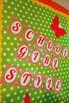 Classroom Decor Garden Party Red Gingham Letters