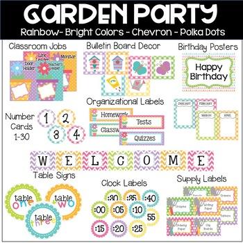 Garden Party Theme Classroom Decor