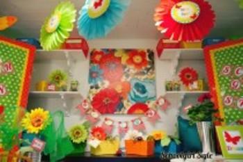 Classroom Decor Garden Party Welcome Banner