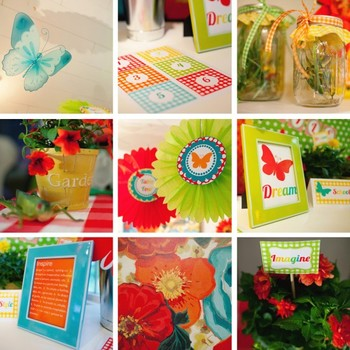 Classroom Decor Garden Party Word Wall Labels