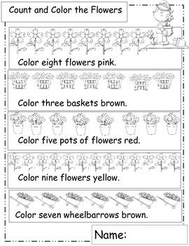 Garden, Math Worksheets, For Your Garden Unit or Plants Unit