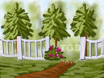 Garden Path and Fence Printable Tracey Gurley Designs