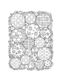 Garden Pattern Coloring Pages