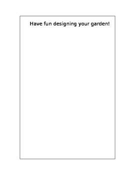Garden Plan worksheet