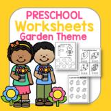Garden Preschool Worksheets - No Prep Literacy & Math PreK Learning Packet