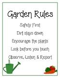 Garden Rules Chart