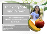 """Garden Safety Notesheet: """"Thinking Safe and Green"""""""