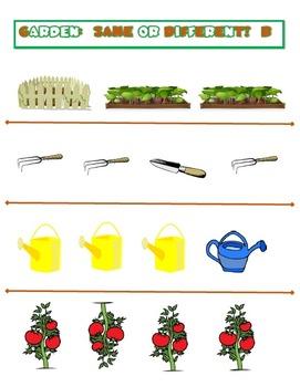 Garden:  Same or Different?