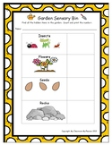 Garden Sensory Bin Find and Count