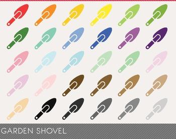 Garden Shovel Digital Clipart, Garden Shovel Graphics, Garden Shovel PNG