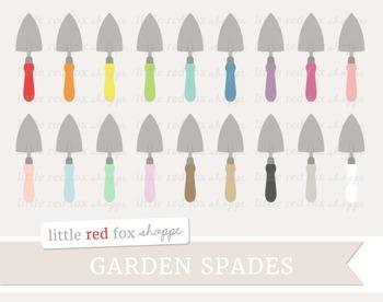 Garden Spade Clipart; Gardening, Shovel, Tool