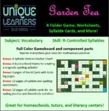 Garden Tea Maze Folder Game Vocabulary R-Controlled Syllables