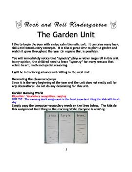 Garden Thematic Unit