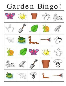 Garden Thematic Unit Bingo