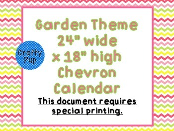 Garden Theme 24x18 inch calendar