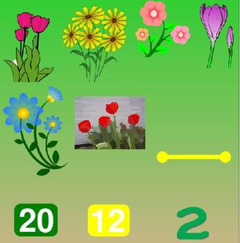 Garden Theme:  Counting to 20 Smartboard Activity