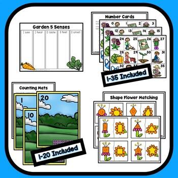 Garden Theme Preschool Lesson Plans By ECEducation101 | TpT