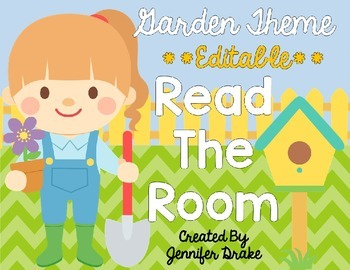 Garden Theme Read The Room EDITABLE
