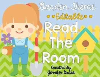 Garden Theme Read The Room EDITABLE