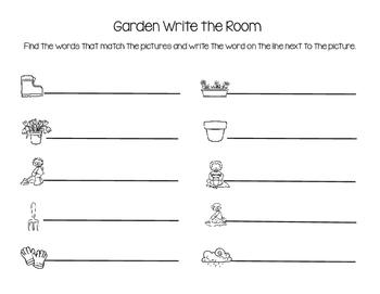 Garden Theme Write the Room
