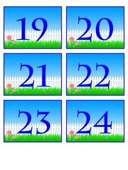 Garden Themed Calendar Pieces + Monthly Headings - Back to School